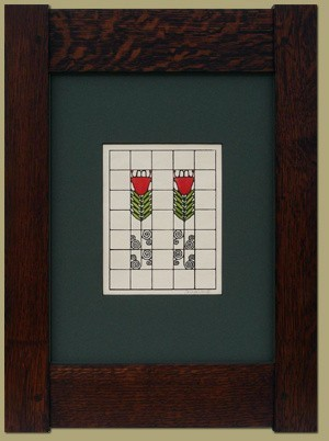 Double Poppy Window #146 - Product Image