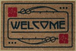 Welcome Mat in Rose Motif - Product Image