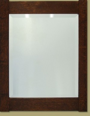 Framed Beveled Mirror - Product Image