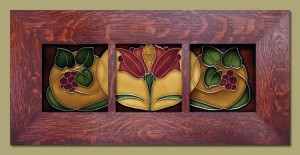 Fall Triple Berries Framed Tiles - 43C - Product Image