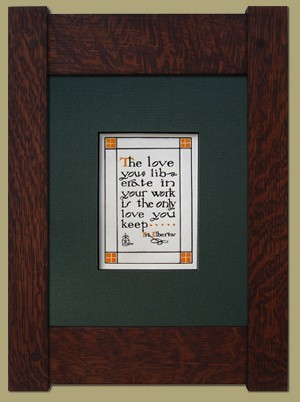 Roycroft Motto - Love - Product Image