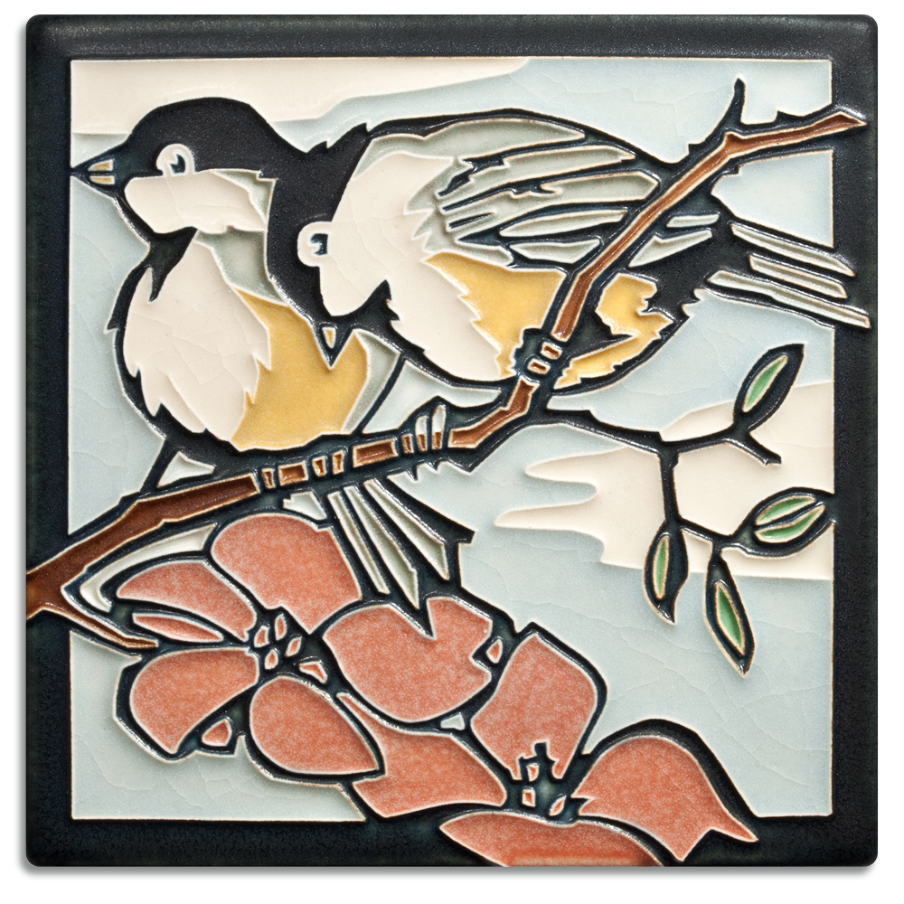 6 x 6 Spring Chickadees - Product Image