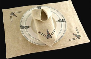 Viennese Pendant Table Linens - Product Image