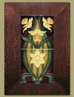 Double Daffodil Framed Tiles - Gold - 65D - Product Image