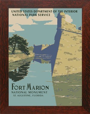 FORT MARION, WPA National Park Poster - Product Image
