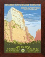ZION, WPA National Park Poster - Product Image