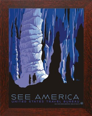"""CARLSBAD CAVERNS """"See America"""", WPA National Park Poster - Product Image"""