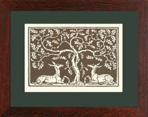 "Oak Park framed ""Deer & Oak"" Letterpress Printed Notecard - Product Image"