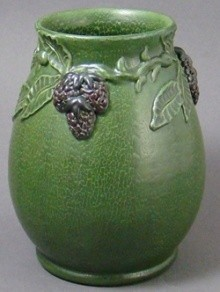 Ephraim Heirloom Blackberry Vase, short Antique Green - Product Image