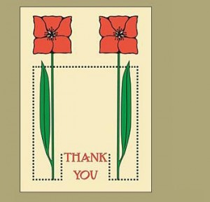 Dard Hunter Thank You Notecards - Product Image
