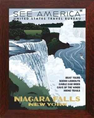 NIAGARA FALLS, WPA National Park Poster - Product Image