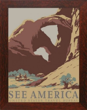 ARCHES NATIONAL PARK, WPA Framed Poster - Product Image