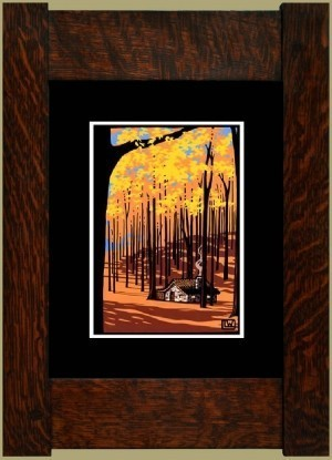 Autumn Cottage, Laura Wilder's Signed Mini-giclee - Product Image