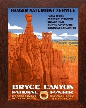 BRYCE CANYON, WPA National Park Poster - Product Image