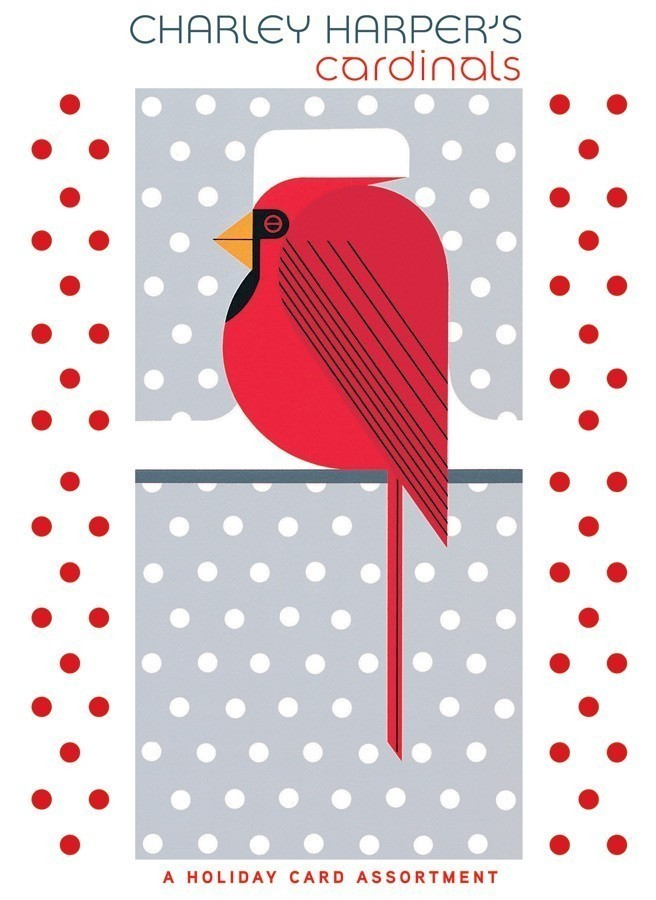 Charley Harper's Cardinals Holiday Card Assortment - Product Image