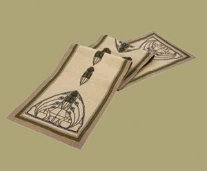 Dard Hunter Peacock Table Runner - Product Image