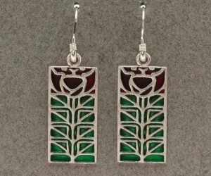 Dard Hunter Sterling Silver & Enamel Jewelry, design #207 - Product Image