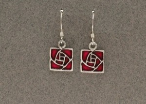 Dard Hunter Sterling Silver & Enamel Jewelry, design #224 - Product Image