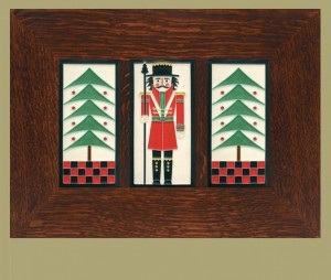 "Dard Hunter Trees & Nutcracker Trio in ""Peppermint"" - Product Image"