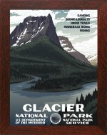 GLACIER NATIONAL PARK, WPA National Park Poster - Product Image