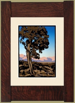 High Desert Juniper, Laura Wilder's Limited Edition Block Print - Product Image