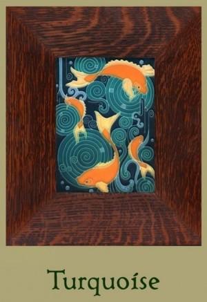 Koi Pond 6 x 8 tile - Product Image