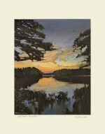 Lakeside Sunset, by Jan Schmuckal - Product Image