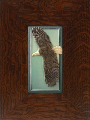 "NEW! ""Eagle In Flight"" 4x8 tile, by artist John Beasley - Product Image"