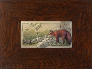 "NEW! ""Fox & Hounds"" 4x8 tile, by artist John Beasley - Product Image"