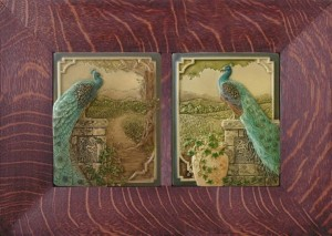 NEW! Framed Peacock Duo, by John Beasley - Product Image