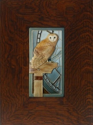 "NEW! ""Time Keeper"" Owl 4x8 tile, by artist John Beasley - Product Image"