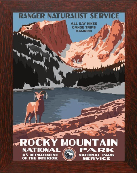Rocky Mountain National Park, WPA Framed Poster - Product Image
