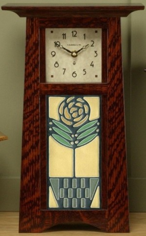 Schlabaugh Clock with 4x8 Tile - Product Image