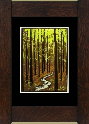 Spring Woods, Laura Wilder's Limited Edition Block Print - Product Image