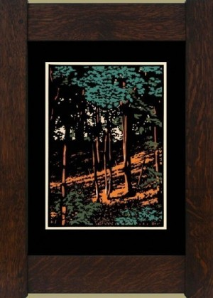 Summer Woods II, Laura Wilder's Limited Edition Block Print - Product Image