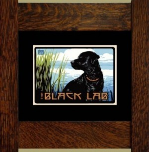 The Black Lab, Laura Wilder's Signed Mini-giclee - Product Image