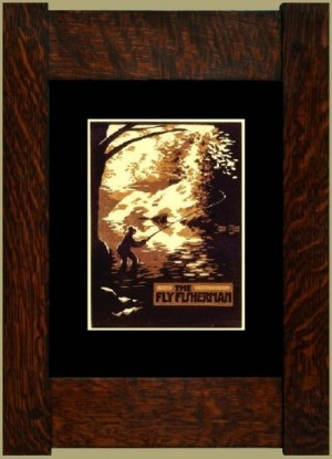 The Fly Fisherman, Laura Wilder's Signed Mini-giclee - Product Image