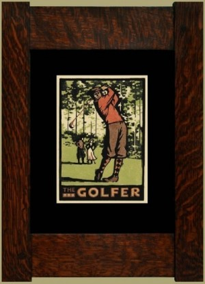 The Golfer, Laura Wilder's Signed Mini-giclee - Product Image