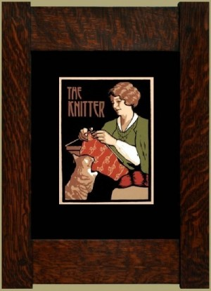 The Knitter, Laura Wilder's Signed Mini-giclee - Product Image