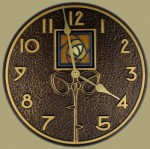 Wall Clock with Dard Hunter Rose - Product Image