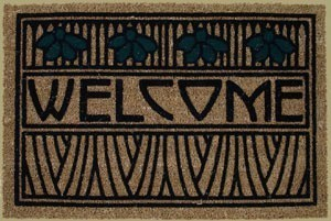 Welcome Mat in Iris Motif - Product Image