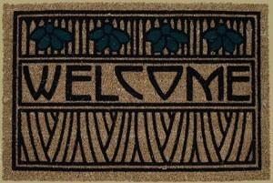 Welcome Mat in Iris Motif - Product Image