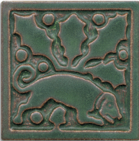6 x 6 Medieval Dog by Motawi Tileworks - Product Image