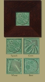 Garden Harvest Tiles - Green - Product Image
