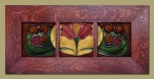 Autumn Triple Berries Framed Tiles - 43B - Product Image
