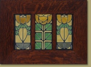 "4 x 8""  Legacy Triple Tile Frame, with Dividers - Product Image"