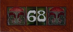 House Numbers with 6x6 Tiles on Each Side - Product Image
