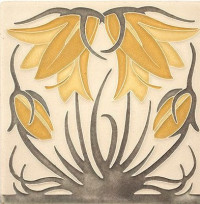 4 x 4 Ladybell Tile by Motawi Tileworks - Product Image