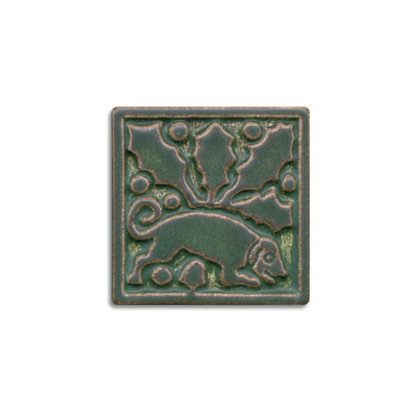 4 x 4 Medieval Tile by Motawi Tileworks - Product Image