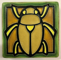 4 x 4 Scarab Tile by Motawi Tileworks - Product Image